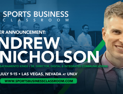 Andrew Nicholson, Senior Director of Digital & Integrated Communications for the Sacramento Kings, to speak at SBC's Social Media, PR & Digital Branding Major