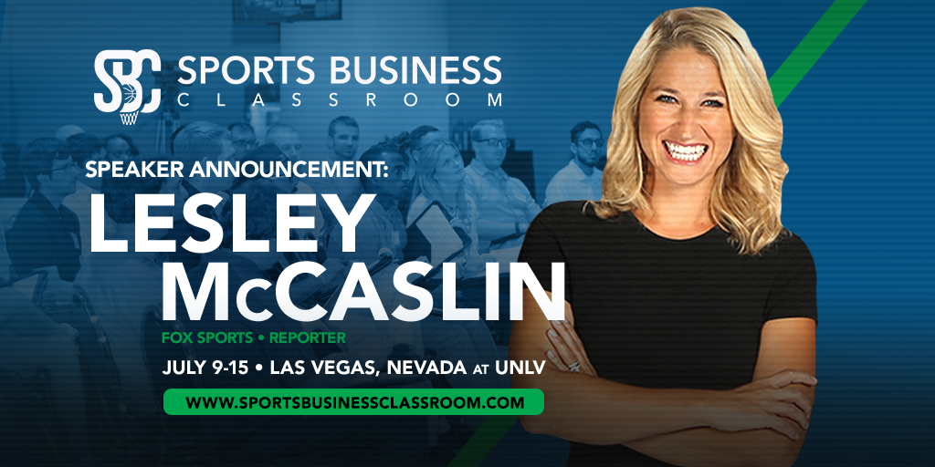 Oklahoma City Thunder Reporter Lesley McCaslin to speak at SBC's TV, Online & In-Arena Broadcast Major