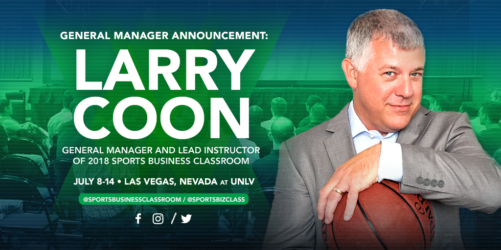 Salary Cap Expert Larry Coon to Lead Sports Business Classroom 2018