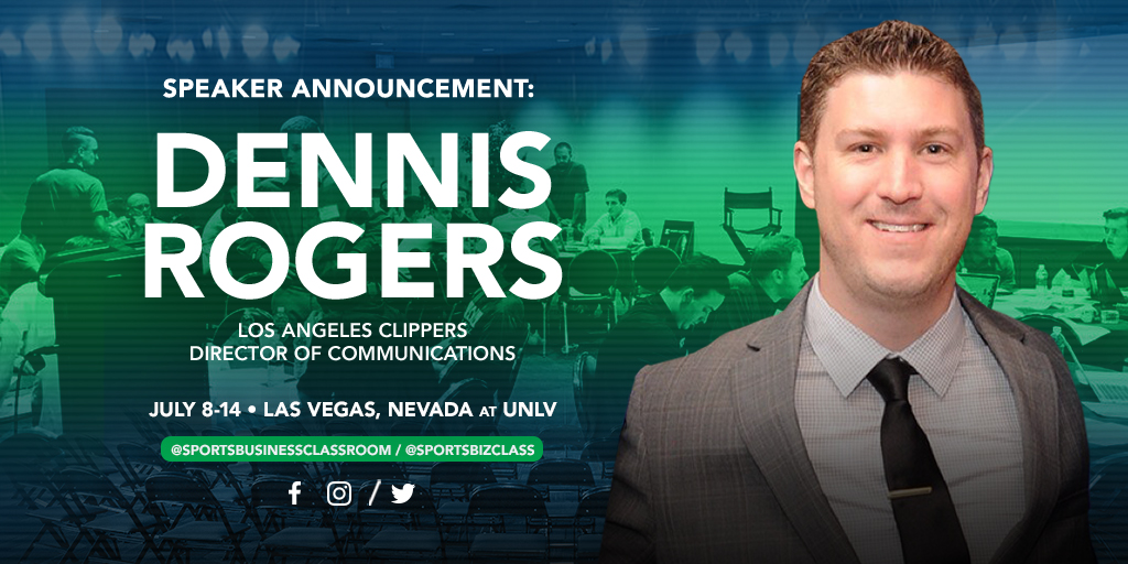 Dennis Rogers, Director of Basketball Communications for the Los Angeles Clippers, to be a featured speaker at SBC 2018
