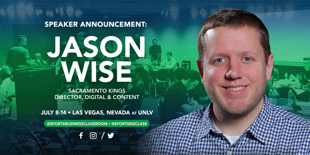 Jason Wise, Director of Digital for the Sacramento Kings, to be a featured speaker at SBC 2018