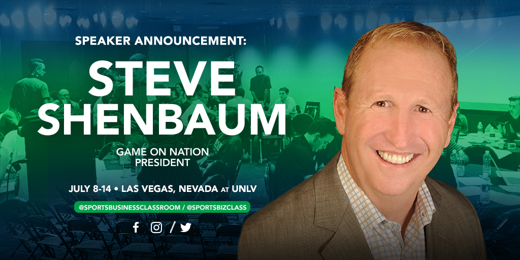 Steve Shenbaum, Founder and President of game on Nation, to be a featured presenter at SBC 2018