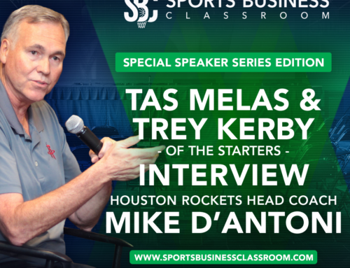 THE STARTERS TO HOST SITDOWN WITH MIKE D'ANTONI AT SPORTS BUSINESS CLASSROOM DURING NBA SUMMER LEAGUE