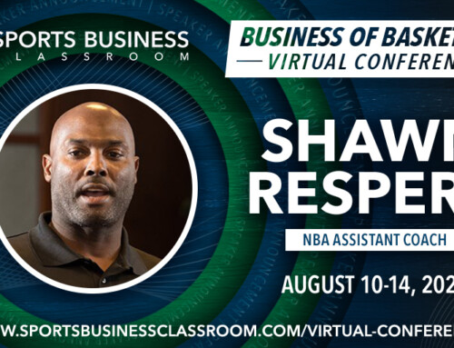 Shawn Respert, NBA Assistant Coach, to be a featured speaker at SBC 2020 Virtual Conference