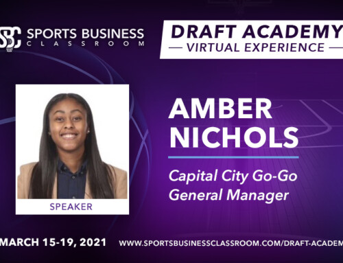 Amber Nichols, General Manager of the Capital City Go-Go, to be Featured Speaker at the Draft Academy Virtual Experience