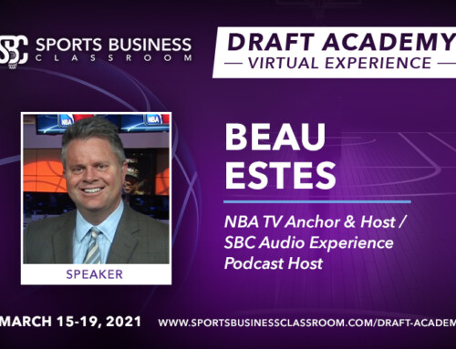 Beau Estes, NBATV Anchor and Host, to be Featured Speaker at the Draft Academy Virtual Experience
